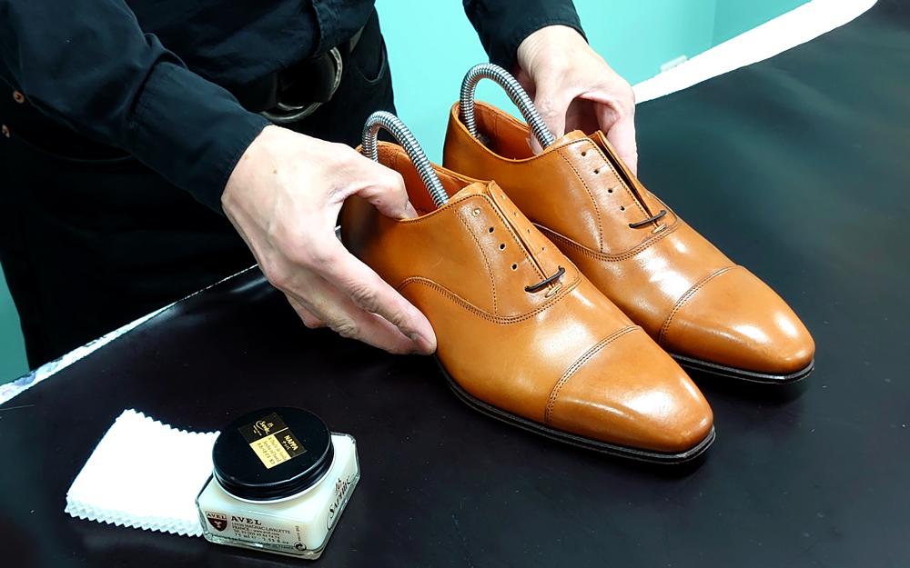 購入直後の靴の画像です。