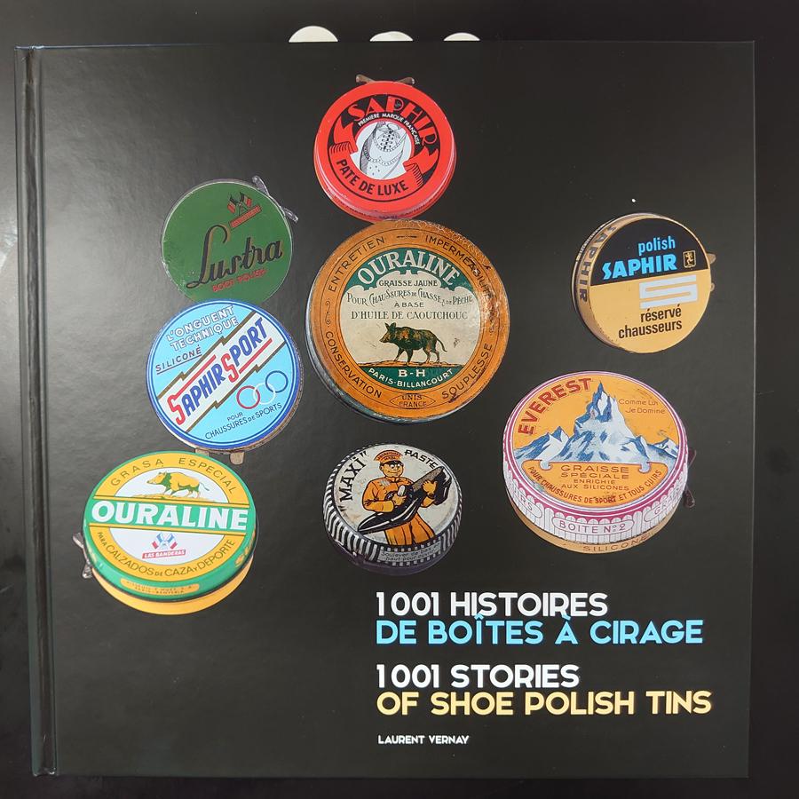シューポリッシュ缶 1001物語 表紙の写真です。