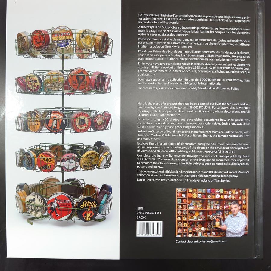シューポリッシュ缶 1001物語 裏表紙の写真です。