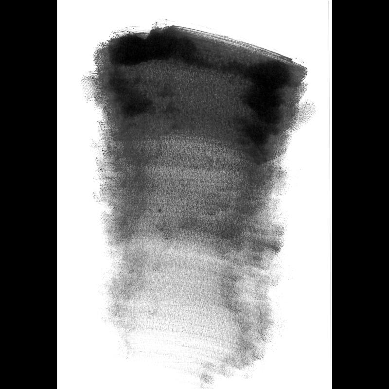 ダイフレンチリキッド ブラックでグラデーションをつけたイメージ