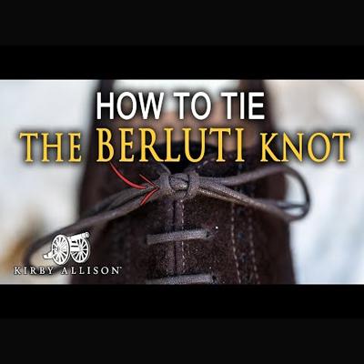ベルルッティ結びのやり方を伝える動画のサムネイル