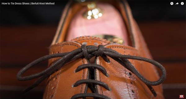 ベルルッティ結びの革靴