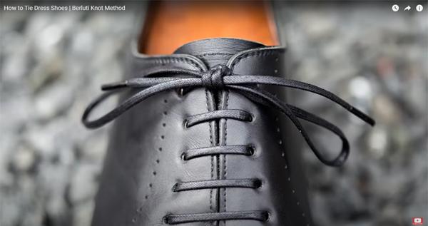 パリジャン結びの革靴